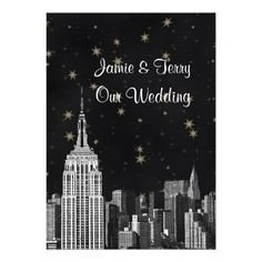 This DealsNYC ESB Skyline Etched Black Starry Wedding Inviteswe are given they also recommend where is the best to buy