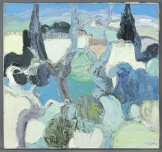 Roger Muhl, Campagne a Grasse, oil on canvas, 31.5'' x 33.5''