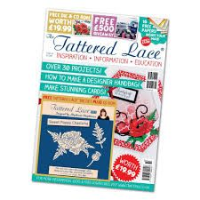 Tattered Lace Die - The Tattered Lace Magazine - Issue 32 Poppies, Magazine, Paper, Sweet, How To Make, Inspiration, Image, Ideas, Products