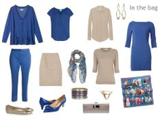 taupe and blue