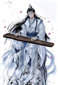 Lan Zhan or Lan Wangji from The Grandmaster of Demonic Cultivation danmei.