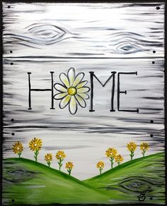 Home Flower Sign at Carrabba's Nottingham - Paint Nite Events near Baltimore, MD>