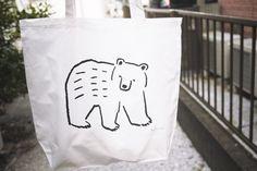 熊と雷鳥のトートバッグ - masao takahata