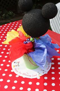 Mickey Mouse Treat Buckets #mickeymouse #party #favors