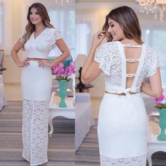 La imagen puede contener: 2 personas Sexy Dresses, Nice Dresses, Evening Dresses, Short Dresses, White Fashion, Girl Fashion, Fashion Outfits, Cute White Dress, Floaty Dress