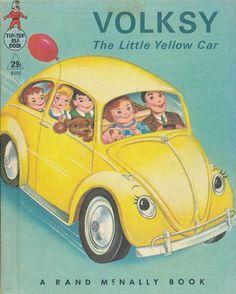 'VOLSKY LITTLE YELLOW CAR' 1965 Rand McNally TIP TOP ELF Book