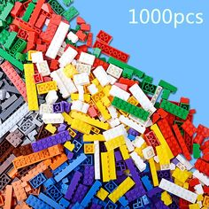 44.97$  Buy here - http://airr5.worlditems.win/all/product.php?id=32286762917 - 1000pcs Basic Building Bricks Parts DIY Educational Toys 14 Shapes Small Blocks Brinquedos