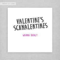 For when you want to cut to the chase as far as this whole Valentine card thing goes. | 31 Perfect Valentines For Unromantic People