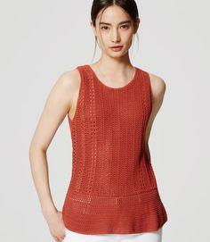 Primary Image of Crochet Tank