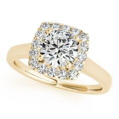 CAROL ENGAGEMENT RING in 14K Yellow Gold - Price: ₹39,142.00. Buy now at http://www.solitairehouse.com/carol-engagement-ring-in-14k-yellow-gold.html