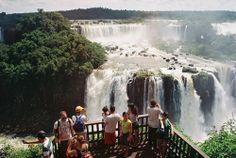 a beautiful waterfall scenery