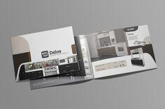 Diseño de catálogo de productos para Delos, fábrica de muebles