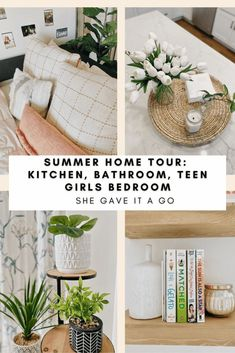Welcome Home Saturday: Summer Home Tour Dark Brown Cabinets, Hotel Sheets, Farmhouse Style Kitchen, Farmhouse Bathrooms, Living Room Decor Inspiration, Teen Girl Rooms, Home Bedroom, Teen Bedroom, Bedroom Ideas