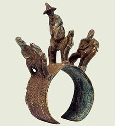 Africa   A bracelet from the Sao of Chad   14th century   Bronze    The Sao culture was one of the oldest in West Africa. Their sepulchres have yielded many copper alloy jewels and especially a large variety of bracelets.