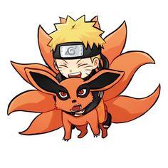 Naruto x Kurama Anime Naruto, Naruto Comic, Naruto Shippuden Sasuke, Naruto Kakashi, Anime Chibi, Kawaii Anime, Naruto Cute, Otaku Anime, Boruto