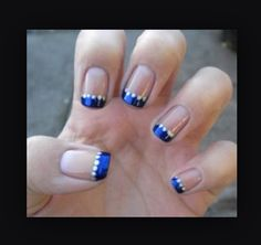 Navy Blue French Tip 3