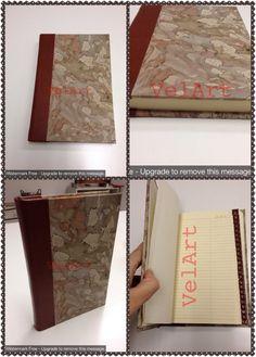 Rubrica in pelle e carta marmorizzata