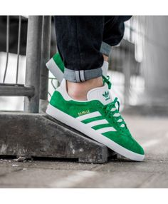 f02eab4d599e Adidas Gazelle Mens Trainers In Green White Gold Metallic Grey Trainers,  Mens Trainers, Metallic