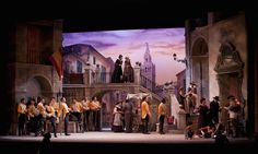 Carmen Act I. Sarasota Opera. Scenic design by David P. Gordon. 2012