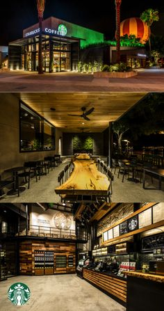 This Starbucks store located at the Walt Disney World Resort near Orlando, Florida is our 500th LEED store. Elements of sustainable design include: 100% energy-efficient LED lighting, reclaimed materials used throughout, community tables made from salvaged trees & a green roof filled with hundreds of lemon grass plants. With a touch of Disney-like whimsy, a moss art installation brings the tranquility of a forest to the store, inviting you to enjoy the serenity of the natural world.