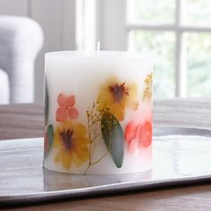 Light up your space with candles from Crate and Barrel. Shop tealights, votives, pillar candles and more in scented, unscented and flameless styles. Unique Candle Holders, Unique Candles, White Candles, Diy Candles, Scented Candles, Pillar Candles, Tropical Candles, Homemade Candles, Spring Home Decor