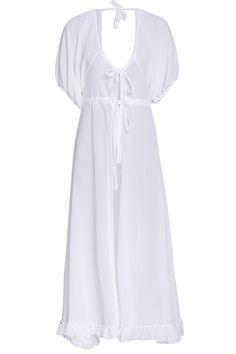 Sexy Lace Up White Chiffon Women's Cover-Up #hats, #watches, #belts, #fashion, #style