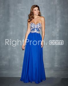 2014 Elegant Sheath/Column Applique Sweetheart Sleeveless Floor-Length Chiffon Prom Dresses