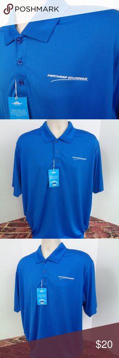 629de6316 Northrop Grumman Blue Polo Mens Shirt XL This is a new with tags Northrop  Grumman royal