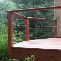 Railing ideas for lake house deck