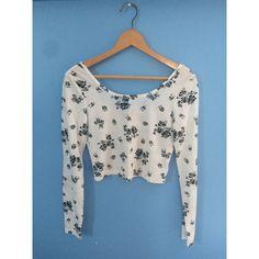Long sleeve crop top Long sleeve, scoop neck crop top. Deeper scoop back. Cute floral design PacSun Tops Crop Tops