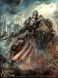 Artist: Unknown name aka THT (Insomniac Studio) - Title: Unknown - Card: Crusader Captain Vsevolod (Paladin)