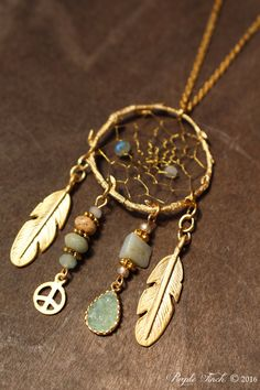 "Couture Matte Gold Birds Nest Dreamcatcher Necklace Dream Catcher Approx. 24"" by PurpleFinchStore on Etsy https://www.etsy.com/listing/478517346/couture-matte-gold-birds-nest"