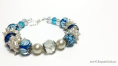 Azure and Ice Bracelet Video Tutorial | http://keepsakecrafts.net/blog