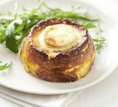 With a double layer of goat's cheese and a coating of cream, these bistro-style bakes are authentically rich