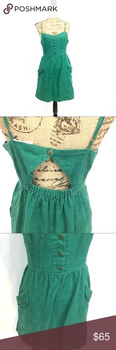 UO Cope open back green linen dress Gently used. Size small. Brand is COPE sold by urban outfitters. Materials in photos. Measurements are approx in inches laying flat.  🌹no trades 🌹discounts on bundles of 2+  🌹1000 items listed, take a peak!  🌹suggested user, posh compliant:) Urban Outfitters Dresses