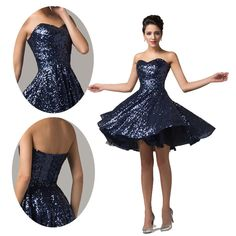 Sparkling Wedding Cocktail Pageant Evening Banquet Prom Homecoming Mini Dress US #GraceKarin #BallGown #Cocktail