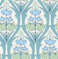 Art Nouveau Flower Designs Art nouveau style wallpapers