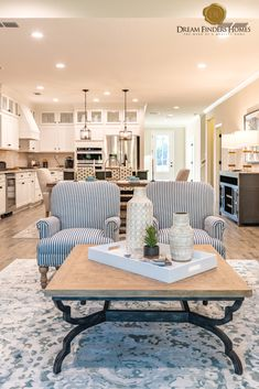 We love these double accent chairs in our Wildlight living room! Living Room Trends, Living Room Designs, Living Room Decor, New Home Construction, Interior Decorating, Interior Design, Home Trends, New Home Designs, Interior Inspiration