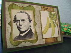 Gregor Mendel Peas in a Pod Birthday Card by Papernaut on Etsy, $4.99