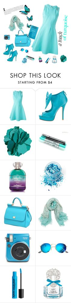 """BLUE"" by lazikaervada ❤ liked on Polyvore featuring Roland Mouret, Laurence Dacade, In Your Dreams, Dolce&Gabbana, Bajra, Ray-Ban and Vince Camuto"