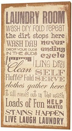 Your Hearts Delight Laundry Room Burlap Wall Decor 14 by 2434Inch * Click image to review more details. (This is an affiliate link)