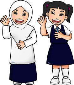 Selamat Hari Guru, Doodle Girl, School Cartoon, Thank You Card Template, Resume Design Template, Islamic Pictures, Character Ideas, Flat Design, Muslim
