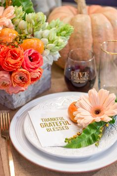 So pretty for a Thanksgiving tablescape.