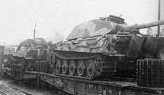 A military ordinance train transporting several King Tiger tanks to Hungary in order to protect Hitlers last oil reserves.