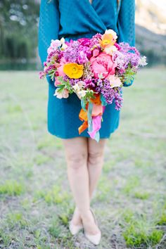 Bursting with color: http://www.stylemepretty.com/2015/07/16/30-bright-beautiful-bouquets-for-the-bold-bride/