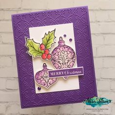 Christmas Gleaming Stamp and Punch Bundle by Stampin' Up! ® Card created by Alisa Tilsner Stampin Up Christmas, Christmas Cards To Make, Christmas Tag, Xmas Cards, Christmas 2019, Christmas Ideas, Christmas Things, Christmas Baubles, Handmade Christmas
