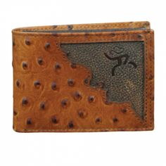 Custom Fancy Gold Star and American Flag Ariat Brown Digital Camo Bi-fold wallet