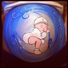 Bellypaint baby moon made by Isabelle van der Stokker www.facebook.com/puurisa