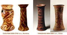 Influenţele civilizaţiei CUCUTENI: YANGSHAO, China (5000-3000 î.e.n.) Pepper Grinder, Altar, China, Porcelain