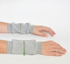 Wrist Zips by Foliage on Etsy. These would be extremely useful while going to shows or working out at the gym. $22.00 for a set of two. Can be worn on wrists or ankles
